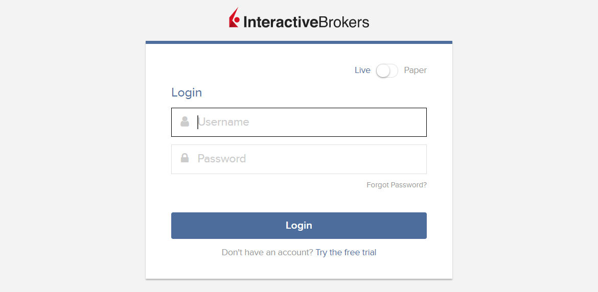 Interactive Brokers Personal Account - Authorization